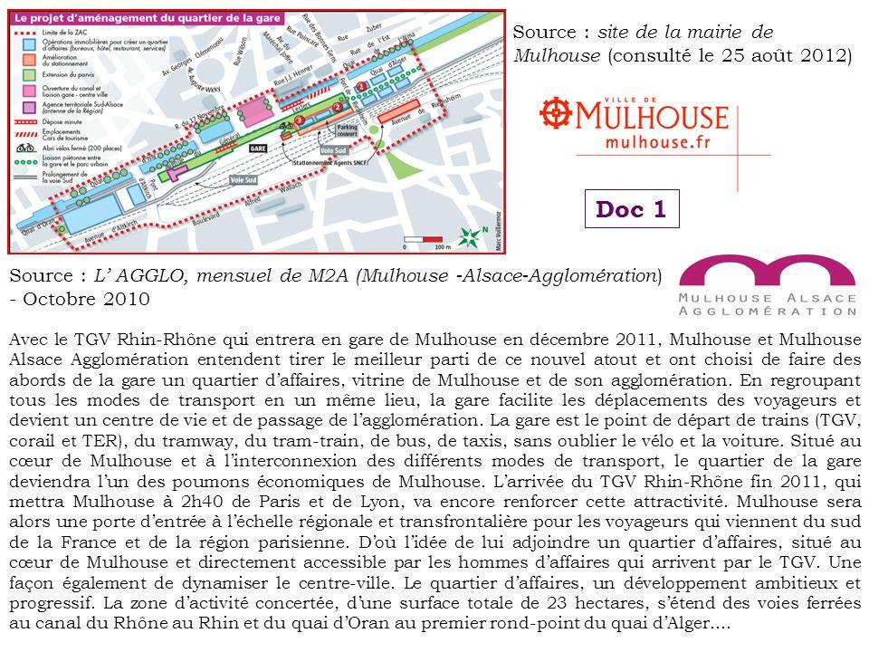 Source : site de la mairie de Mulhouse (consulté le 25 août 2012)