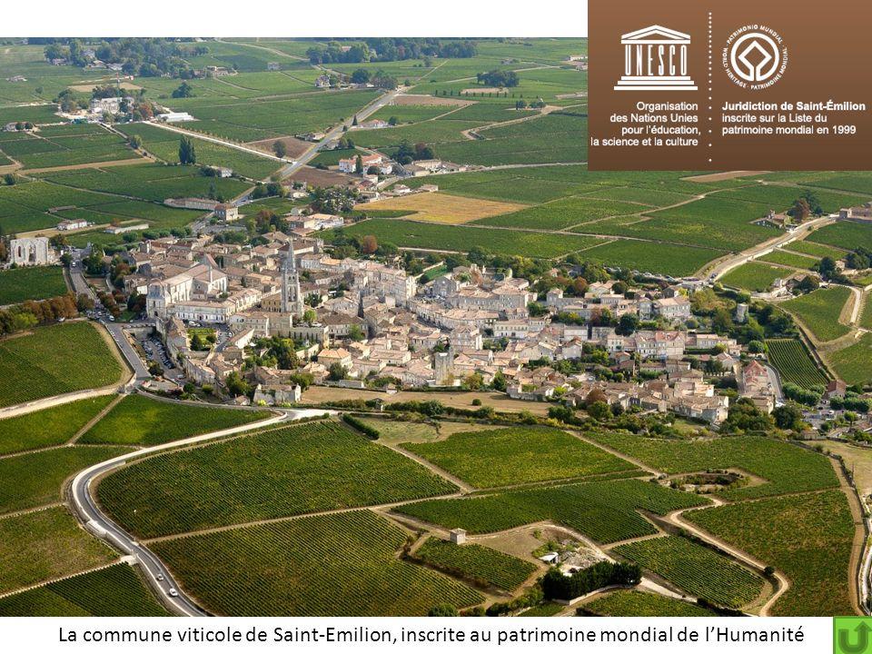 La commune viticole de Saint-Emilion, inscrite au patrimoine mondial de l'Humanité