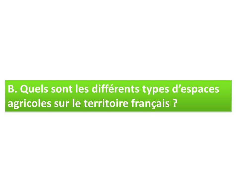B. Quels sont les différents types d'espaces agricoles sur le territoire français