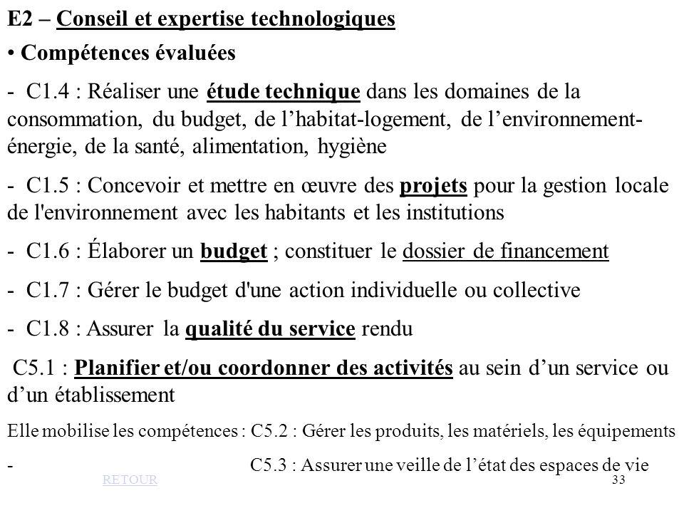 E2 – Conseil et expertise technologiques
