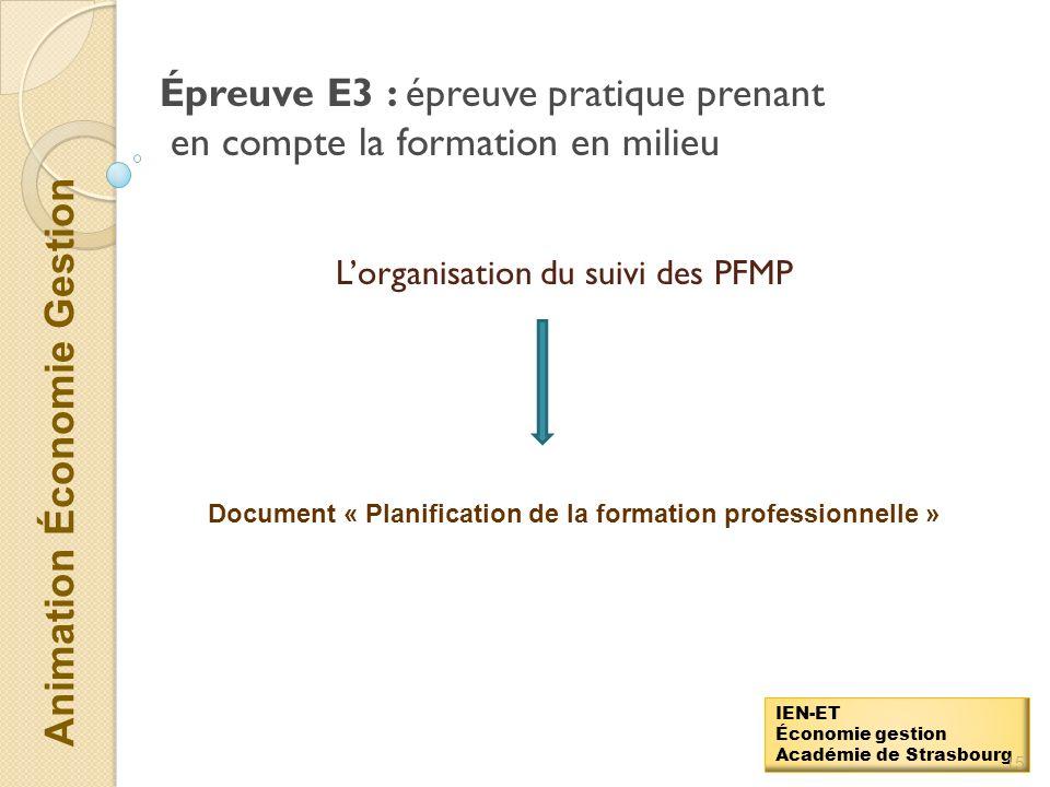 L'organisation du suivi des PFMP