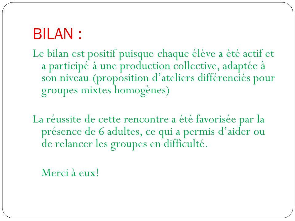 BILAN :