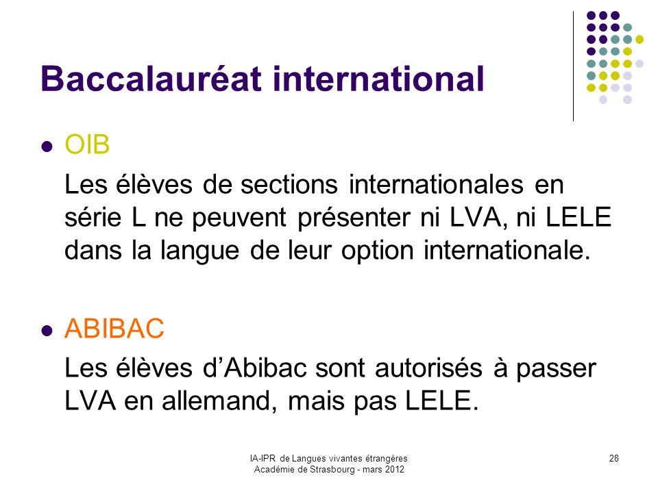Baccalauréat international