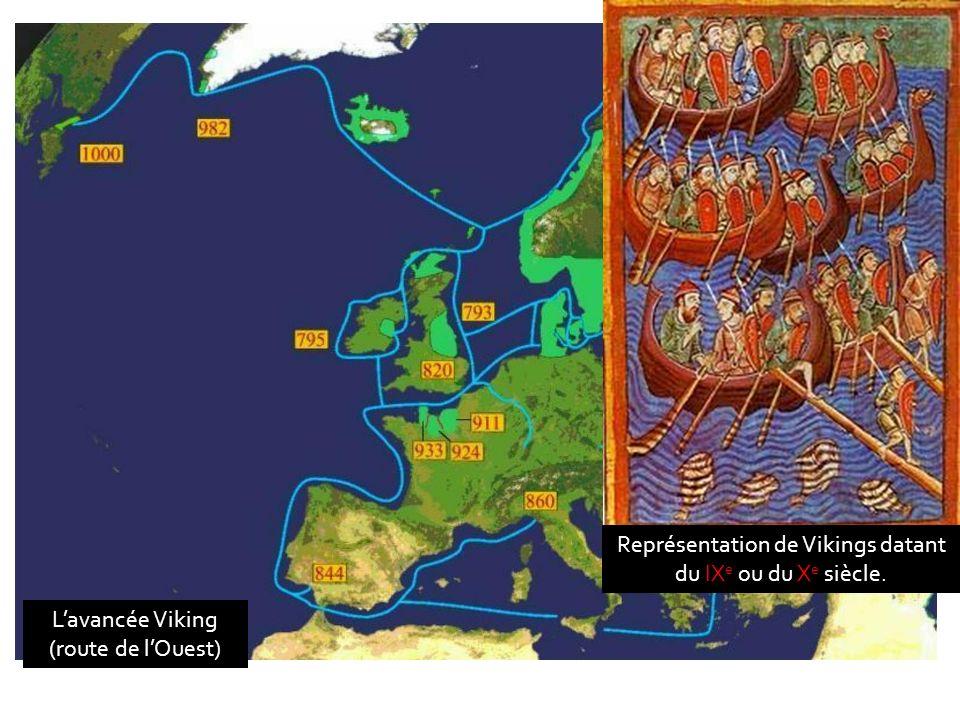 Représentation de Vikings datant du IXe ou du Xe siècle.