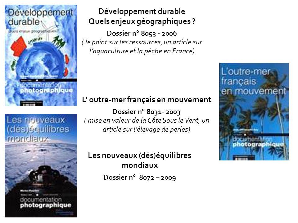 Développement durable Quels enjeux géographiques