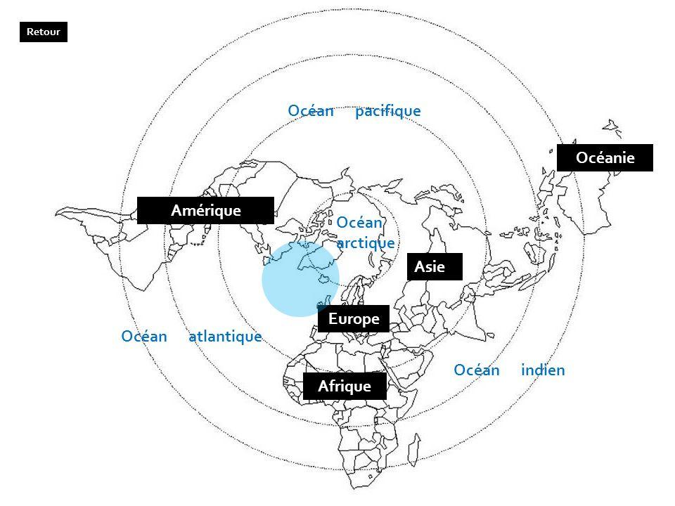 Océanie Amérique Europe Afrique