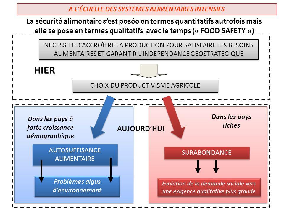A L ÉCHELLE DES SYSTEMES ALIMENTAIRES INTENSIFS