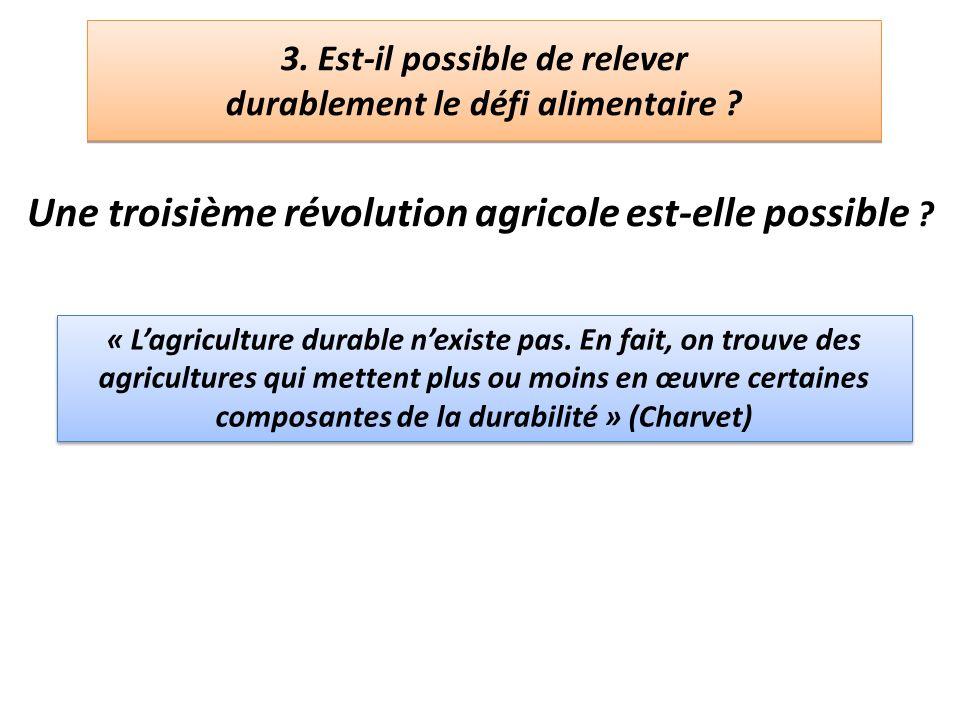 3. Est-il possible de relever durablement le défi alimentaire
