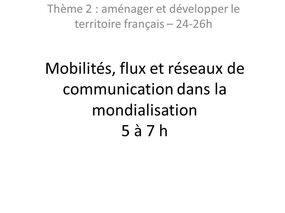 Thème 2 : aménager et développer le territoire français – 24-26h