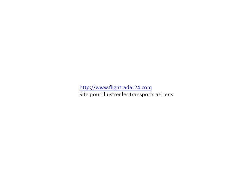 http://www.flightradar24.com Site pour illustrer les transports aériens