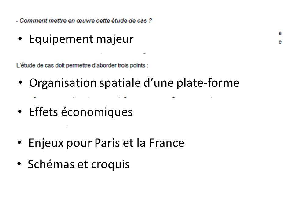 Equipement majeurOrganisation spatiale d'une plate-forme. Effets économiques. Enjeux pour Paris et la France.