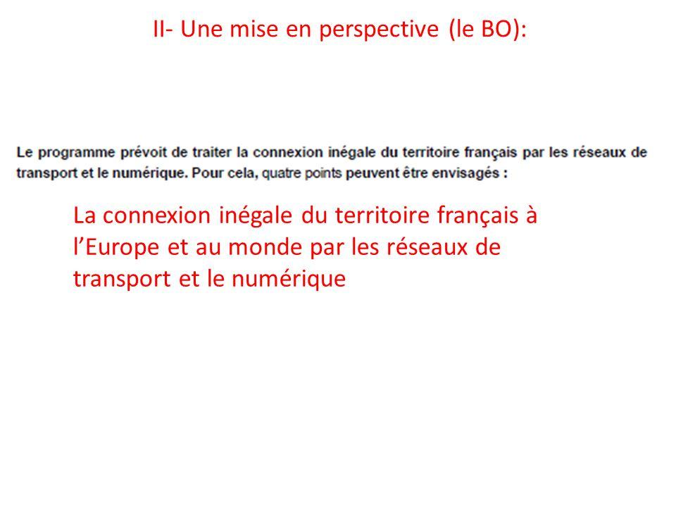 II- Une mise en perspective (le BO):