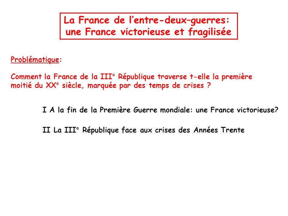 La France de l'entre-deux–guerres: