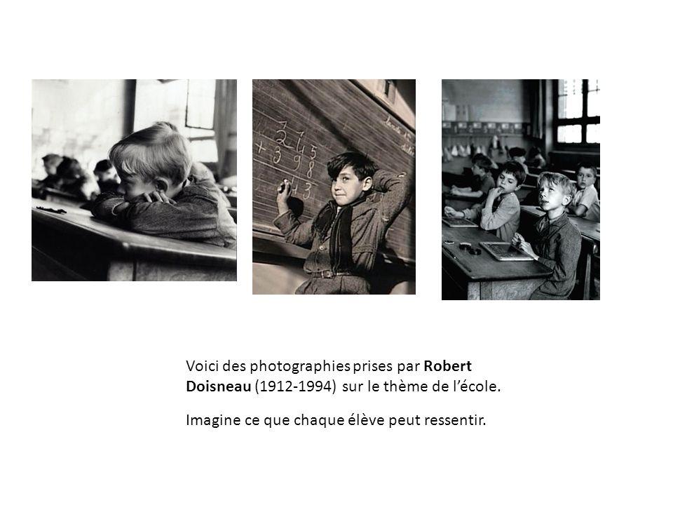 Voici des photographies prises par Robert Doisneau (1912-1994) sur le thème de l'école.