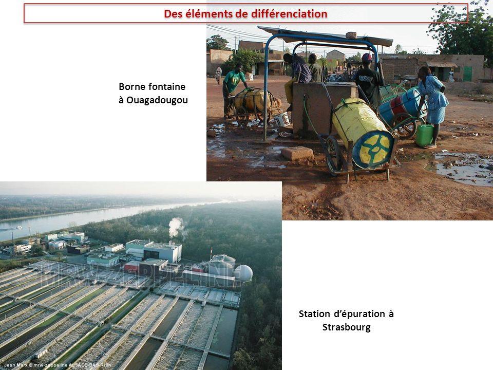 Des éléments de différenciation Station d'épuration à Strasbourg
