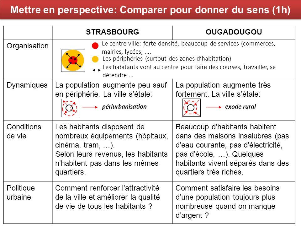 Mettre en perspective: Comparer pour donner du sens (1h)
