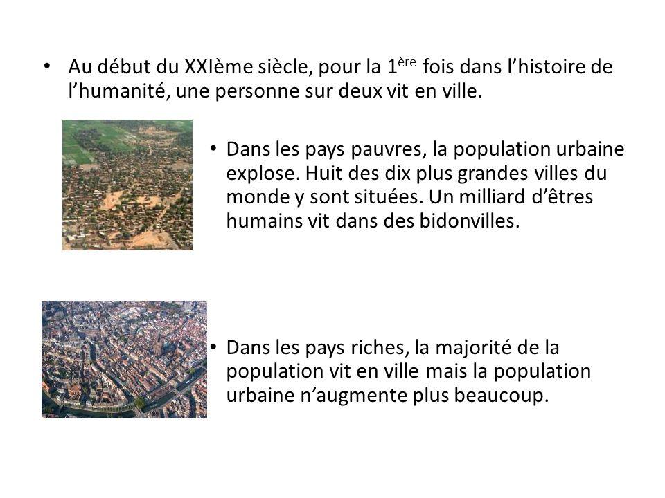 Au début du XXIème siècle, pour la 1ère fois dans l'histoire de l'humanité, une personne sur deux vit en ville.