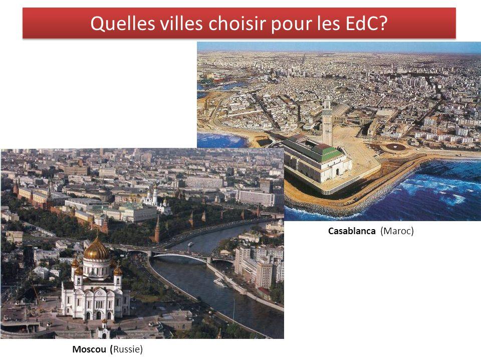 Quelles villes choisir pour les EdC