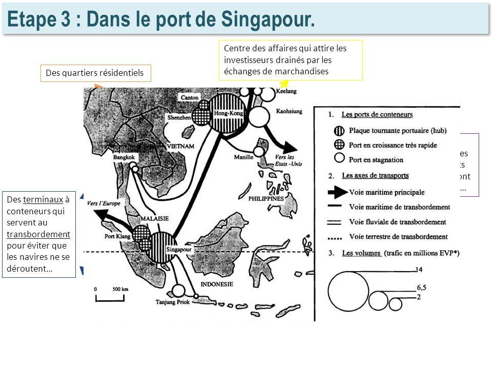 Etape 3 : Dans le port de Singapour.