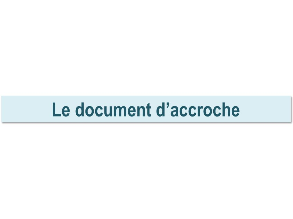 Le document d'accroche