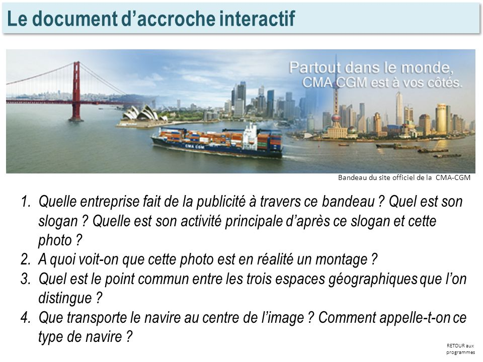 Le document d'accroche interactif