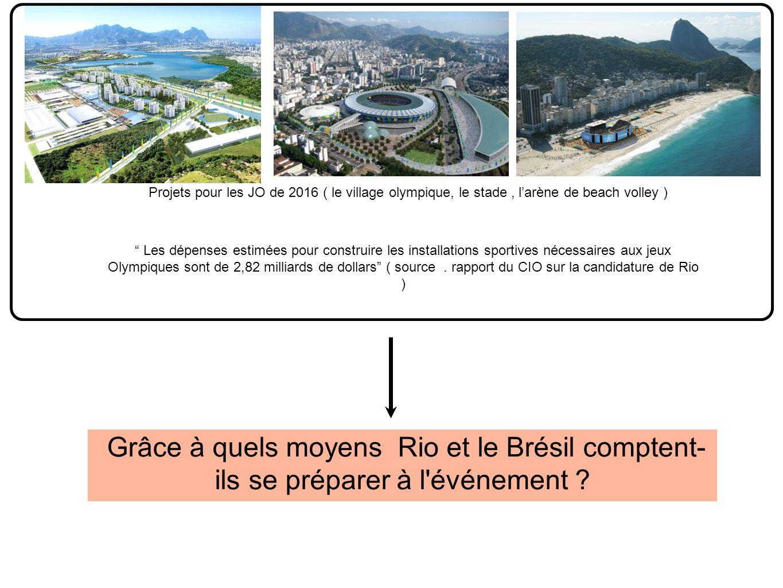 Projets pour les JO de 2016 ( le village olympique, le stade , l'arène de beach volley )