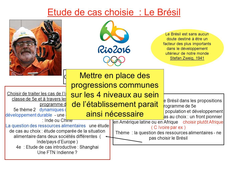Etude de cas choisie : Le Brésil