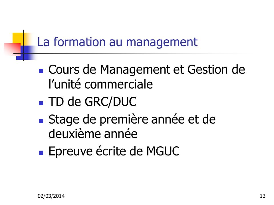 La formation au management