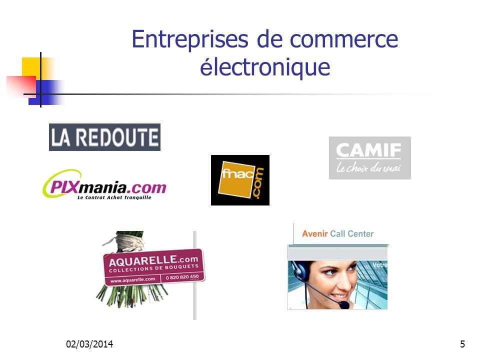 Entreprises de commerce électronique