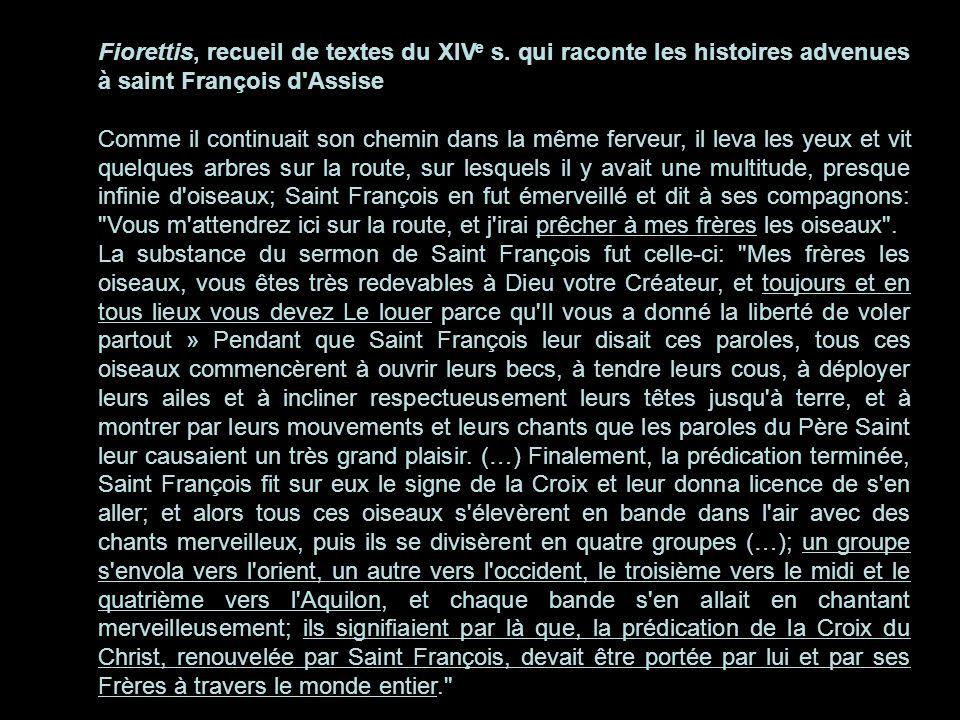 Fiorettis, recueil de textes du XIVe s