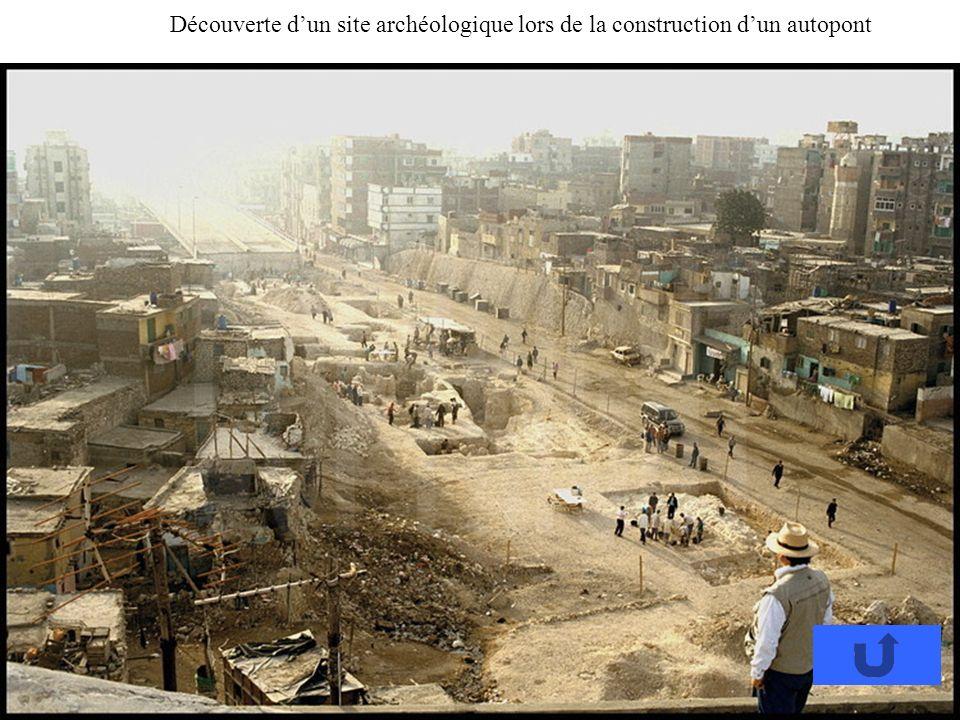 Découverte d'un site archéologique lors de la construction d'un autopont