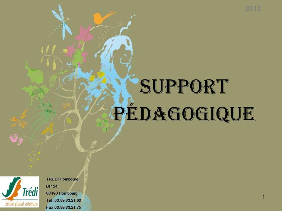 SUPPORT PÉDAGOGIQUE 2013 TREDI Hombourg BP 24 68490 Hombourg