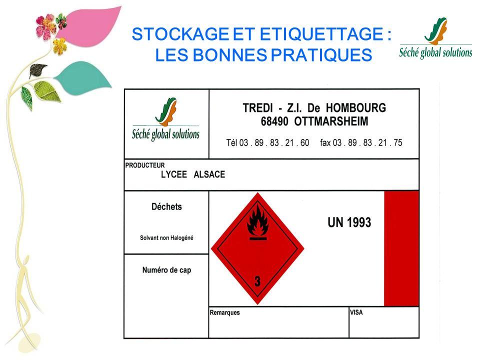 STOCKAGE ET ETIQUETTAGE : LES BONNES PRATIQUES