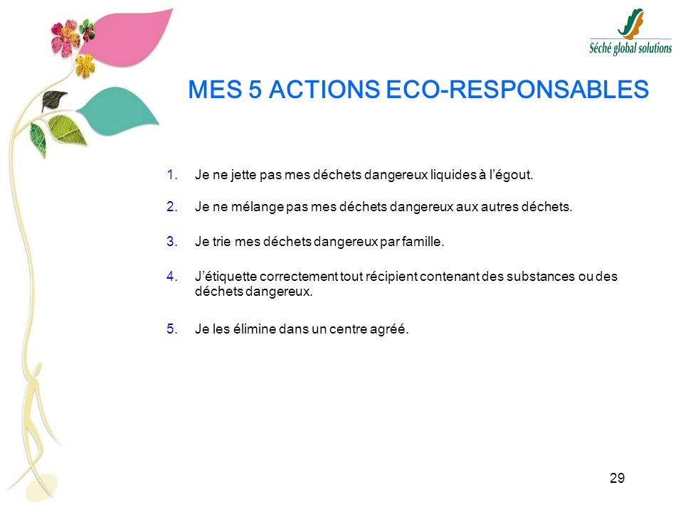MES 5 ACTIONS ECO-RESPONSABLES