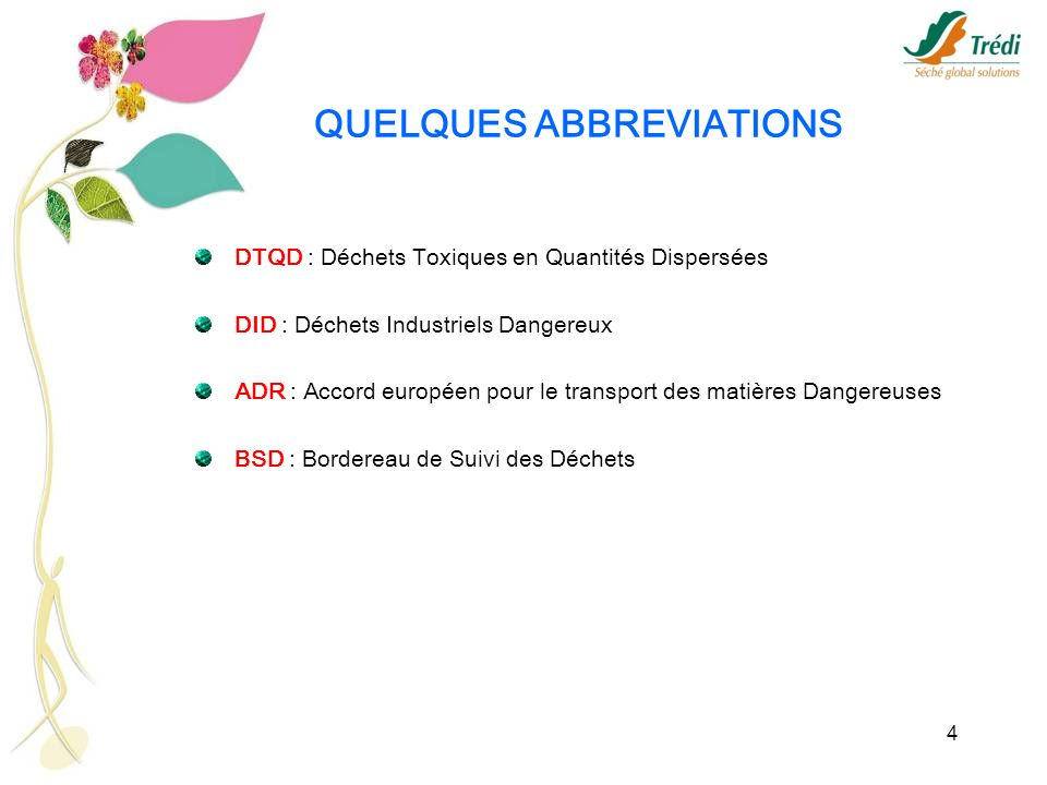 QUELQUES ABBREVIATIONS