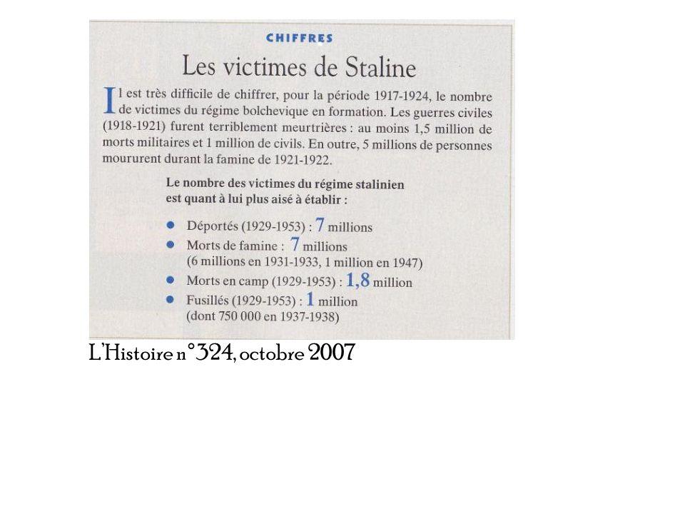 L'Histoire n°324, octobre 2007