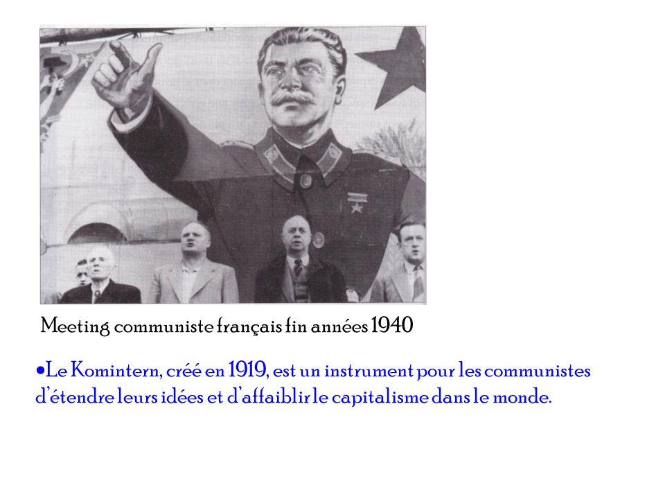 Meeting communiste français fin années 1940