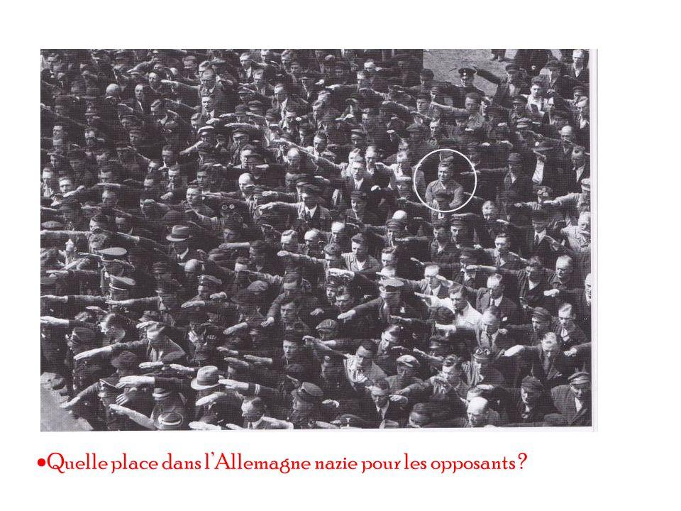 Quelle place dans l'Allemagne nazie pour les opposants