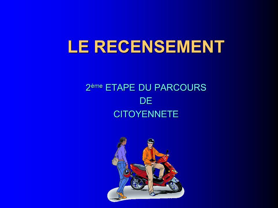 2ème ETAPE DU PARCOURS DE CITOYENNETE