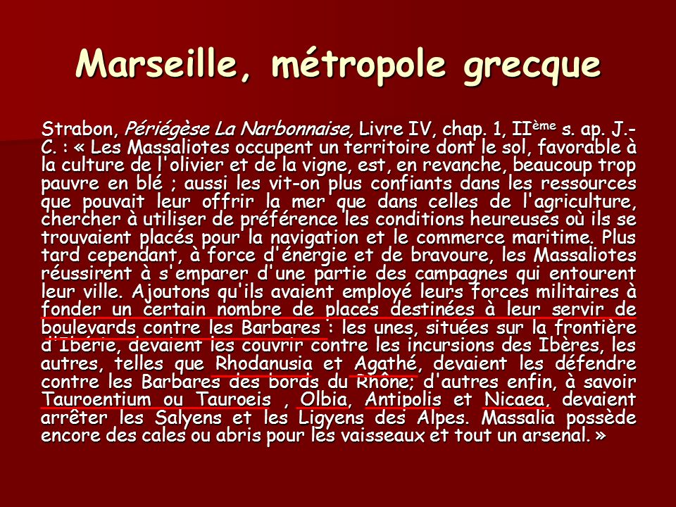 Marseille, métropole grecque
