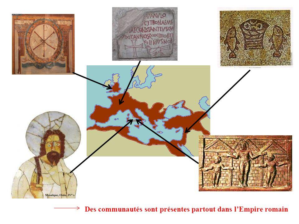 Des communautés sont présentes partout dans l'Empire romain