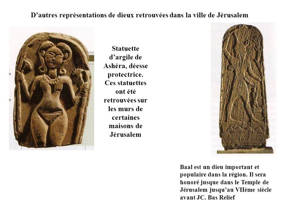 D'autres représentations de dieux retrouvées dans la ville de Jérusalem