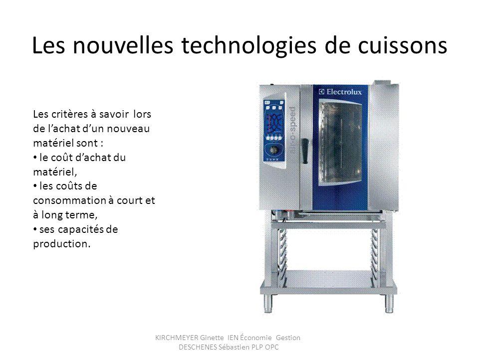 Les nouvelles technologies de cuissons