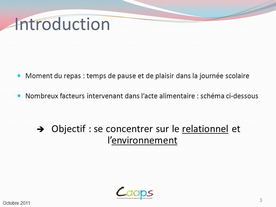  Objectif : se concentrer sur le relationnel et l'environnement