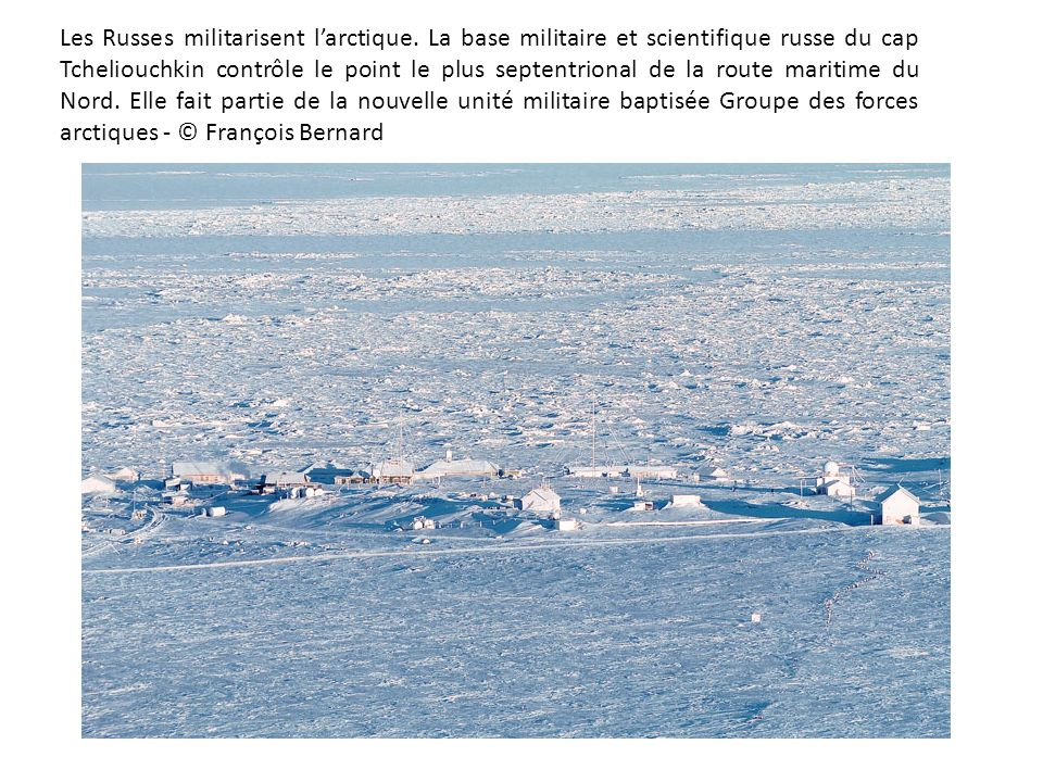 Les Russes militarisent l'arctique