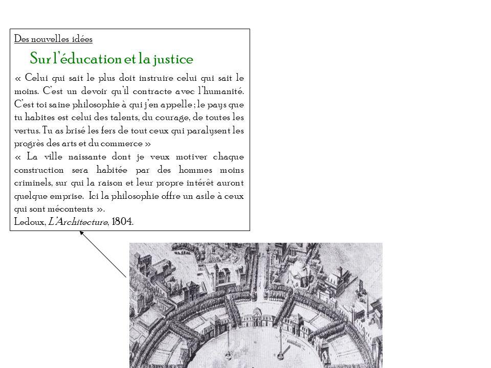 Sur l'éducation et la justice