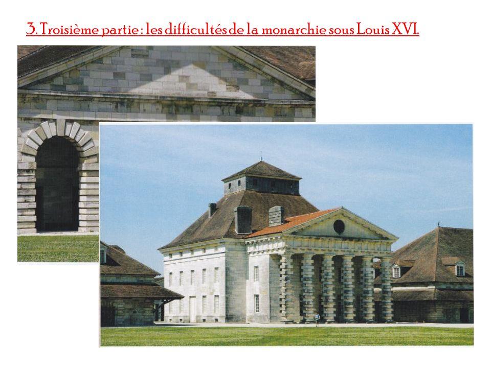 3. Troisième partie : les difficultés de la monarchie sous Louis XVI.