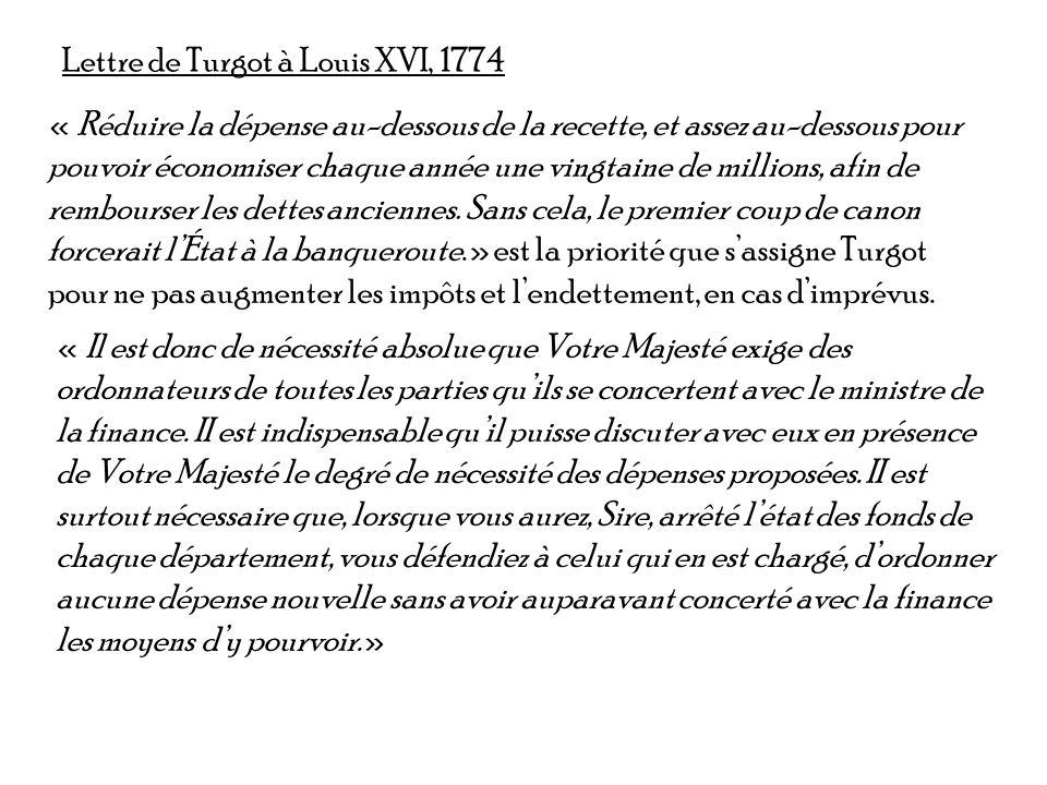 Lettre de Turgot à Louis XVI, 1774