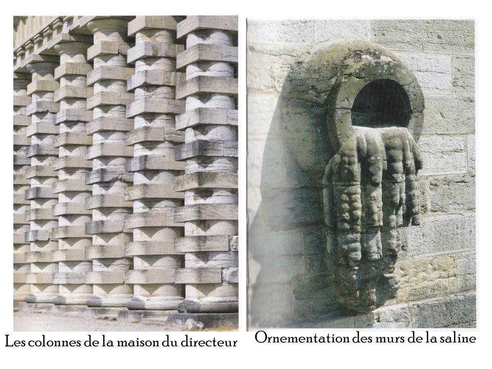 Ornementation des murs de la saline