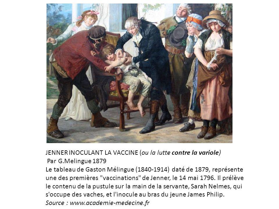 JENNER INOCULANT LA VACCINE (ou la lutte contre la variole)